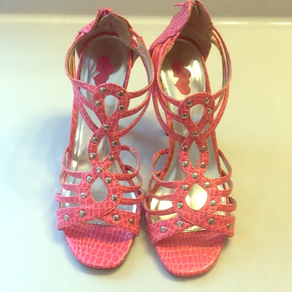 Baby Girl Shoes - BABY GIRL pink caged high heel sandals SZ 8